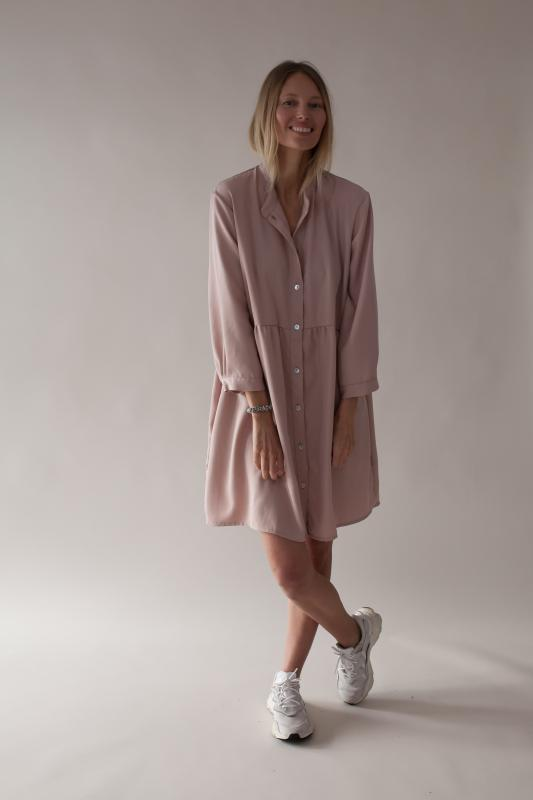 SHIRT DRESS BLUSH M/L