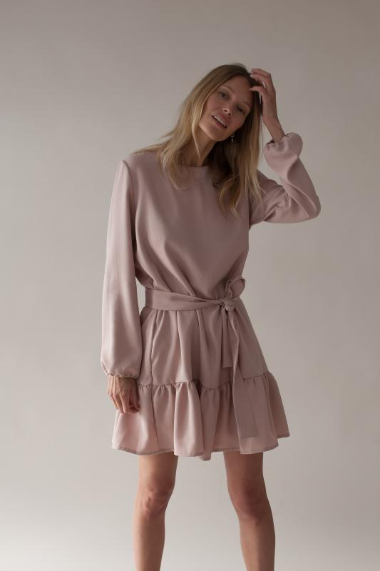 FRILL DRESS BLUSH L