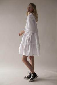 RUFFLED DRESS WHITE XL/XXL