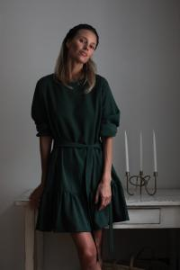 FRILL DRESS GREEN S