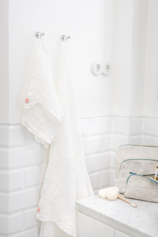 WAFFLE TOWEL WHITE SMALL
