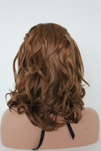 Brown wavy highlights Lace front synthetic Wig