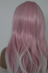 Baby pink/white Ombre Lace front synthetic Wig