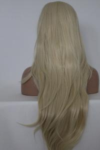 Platinum blonde Lace front synthetic Wig