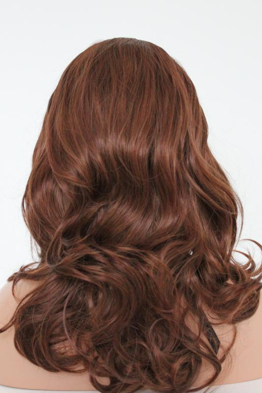Brownish synthetic Wig