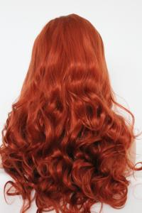 Light wavy orange Lace front synthetic Wig
