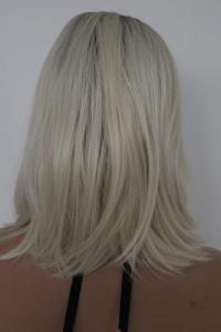 Blonde with black root bob Lace front synthetic Wig
