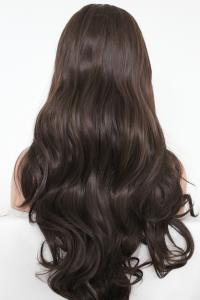 Deep dark brunette Lace front synthetic Wig