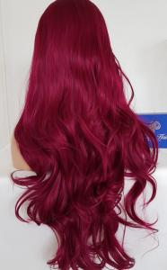 Dark Burgundy red Lace front synthetic Wig