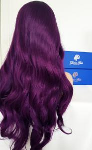 Dark Violet Lace front synthetic Wig