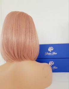 Peach lace front synthetic Wig