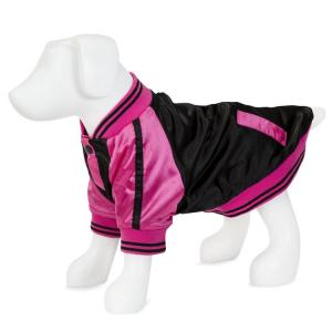 Vanderpump Pets Baseball Jacket, Rosa