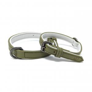 Cambridge Collar, olivgrönt hundhalsband