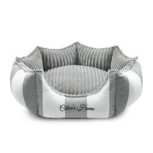Bed Monte Carlo, grå/vit