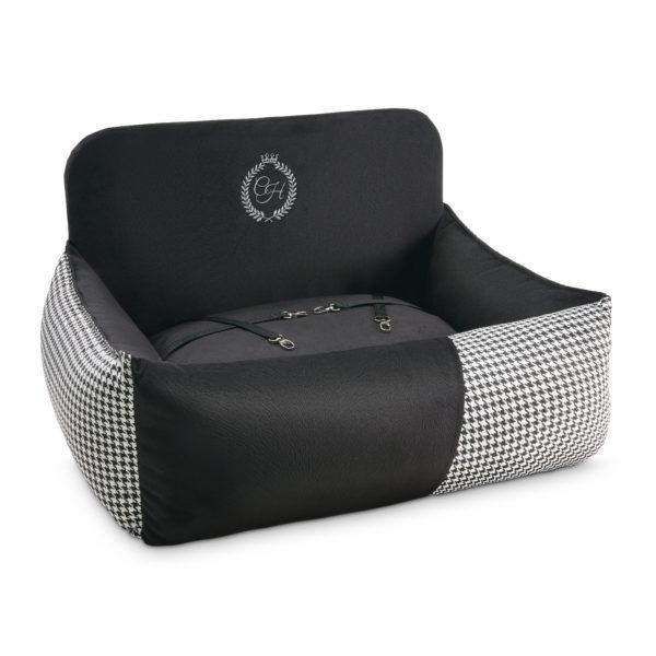 Porto dubbel bilstol, svart