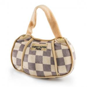 Haute Diggity Dog Chewy Vuiton Checker handväska med rutor