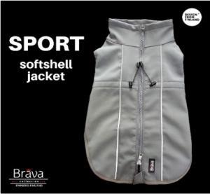 SPORT Softshell jacka grå