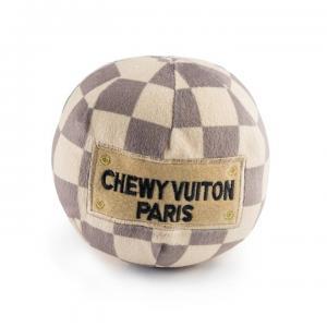 Haute Diggity Dog Chewy Vuiton Checker leksaksboll