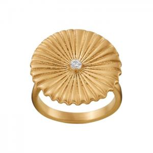 Edblad Crinkle Ring Matt Gold