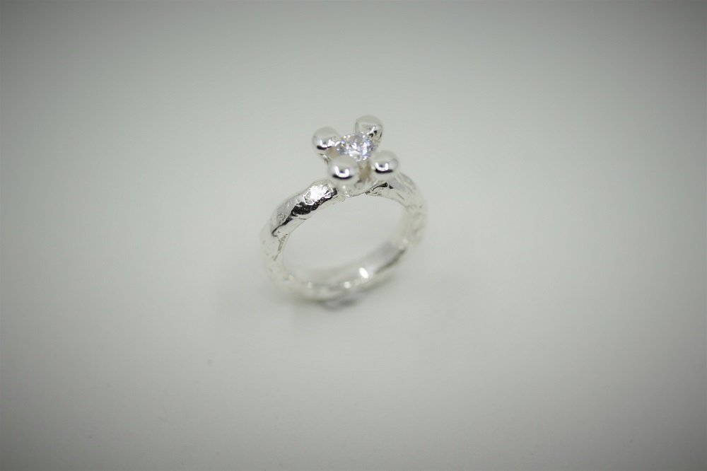 BUBBEL RING SILVER EGEN DESIGN