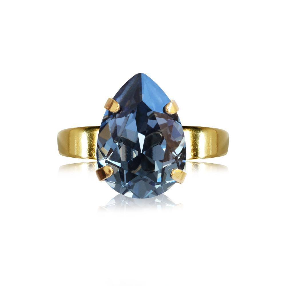 Caroline Svedbom Mini Drop Ring / Denim Blue