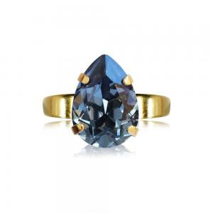 Caroline Svedbom Mini Drop Ring / Denim Blue