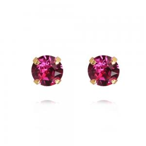 Caroline Svedbom Classic Stud Earrings / Fuchsia