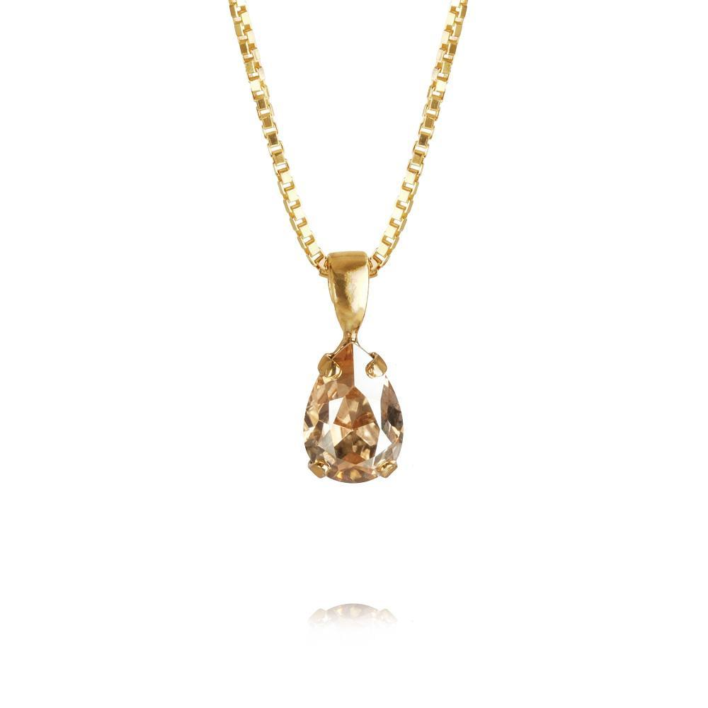 Caroline Svedbom Petite Drop Necklace / Golden Shadow