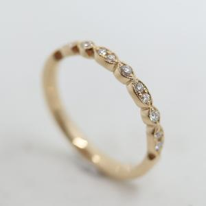 VINTAGE RING I  18K RG MED DIAMANTER