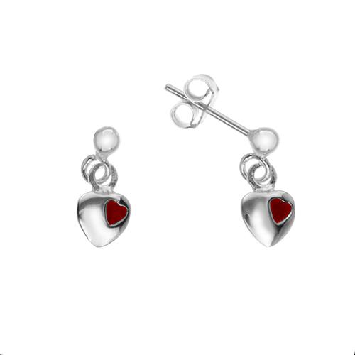 Silverörhängen - Hängande hjärtan
