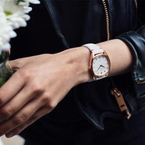 Knut Gadd Leather Strap White/Rosé