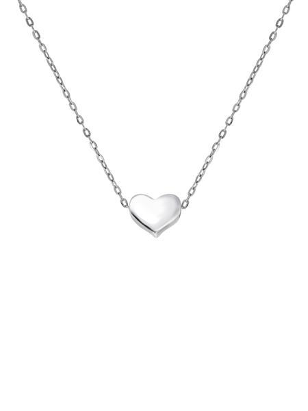 silver halsband med hjärta