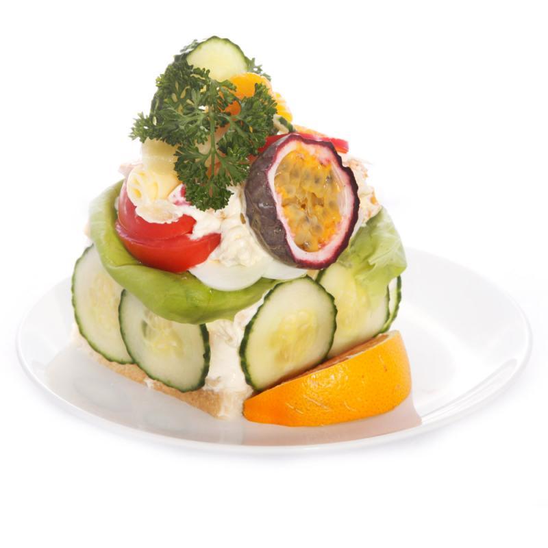 Smörgåsbakelse, vegetarisk