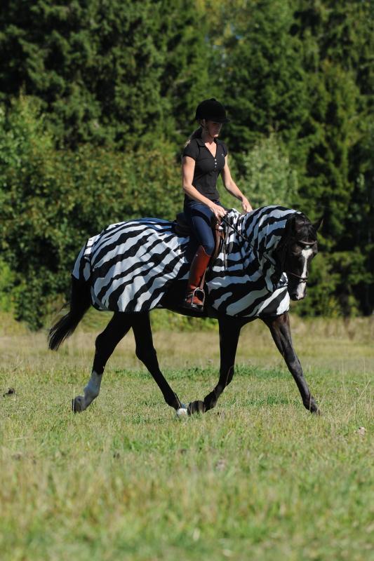 Bucas Buzz-Off Ridtäcke Zebra