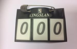Kingsland Nummerlapp Med Säkerhetsnål