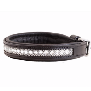 crown sd design hundhalsband gel pad svart