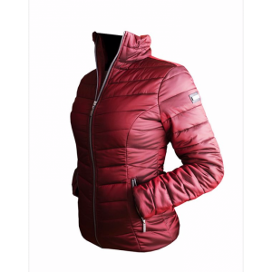 equestrian stockholm light weight jacket burgundy