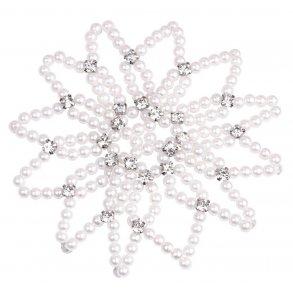 hårnät med pärlor och kristaller