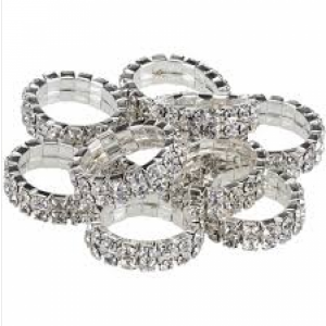 knoppband crystal silver