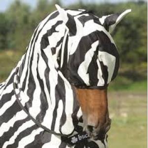 bucas buzz off fly mask zebra flughuva