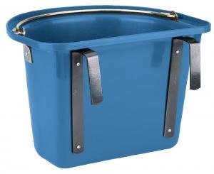 blå hink med hänge och handtag