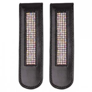 boot clip black crystal
