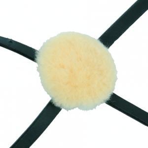 Nosludd till pullarnosgrimma rund 6cm äkta fårskinn