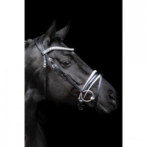 mystery bridle black white patent