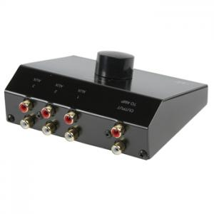 Audio-switch 3x AUX in, 1x AUX ut