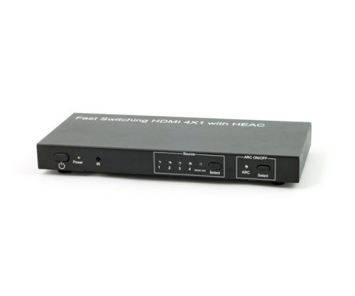 HDMI-switch 4x1 med Ethernet
