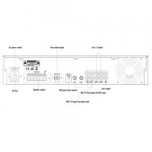 ITC T-240 Mixerförstärkare 240W 100V