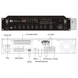 ITC TI-240U 5-zon Mixerförstärkare med USB 240W 100V