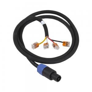 4-polig Speakon med 1,3m 4x2,5mm2 kabel. Wago anslutning.