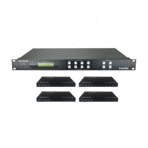 INT-44HDX-KIT, 4x4 HDBaseT matrix Kit + 4 receivers